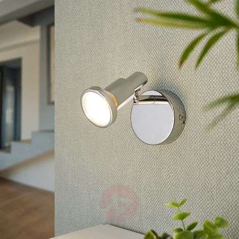 Chrome-plated LED spotlight Thom, GU10-9954011-32