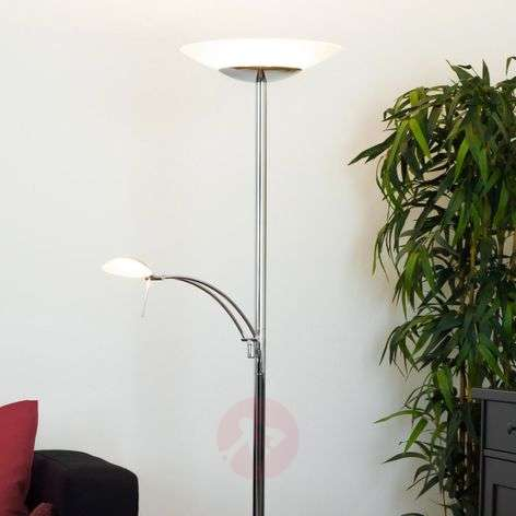 Chrome-plated LED uplighter Ilinca with dimmer