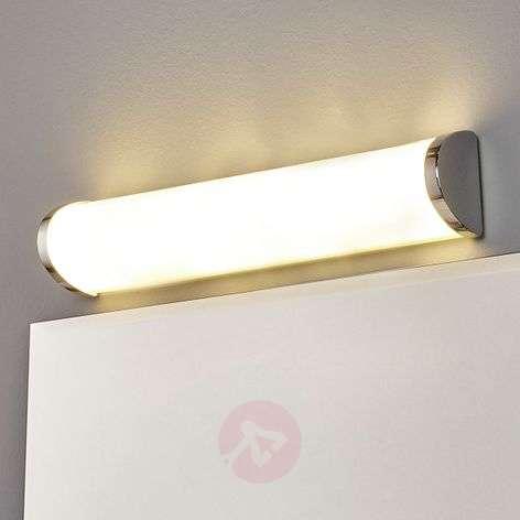 Chrome-plated Moa LED wall light, chrome edge