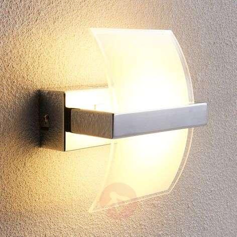 Chrome-plated Waban LED wall light