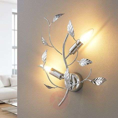 Chrome-plated wall lamp Yos made of metal