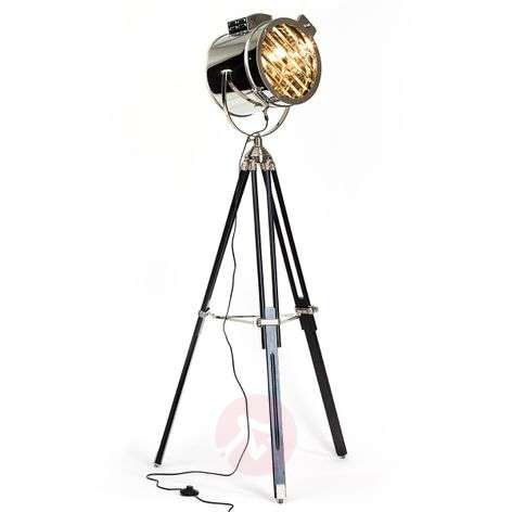 Cine floor lamp with a spotlight design