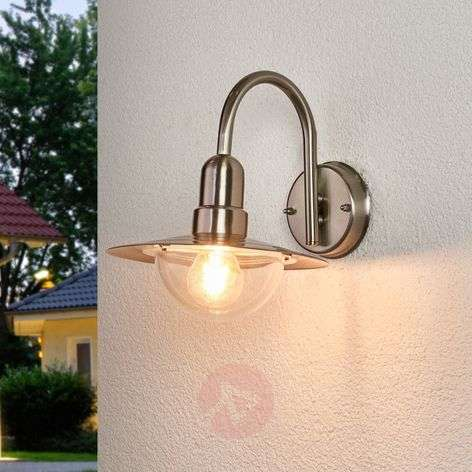 Classic LED outdoor wall light Fedra in steel