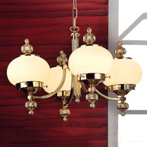 Classic Ophelia chandelier, 4-bulb