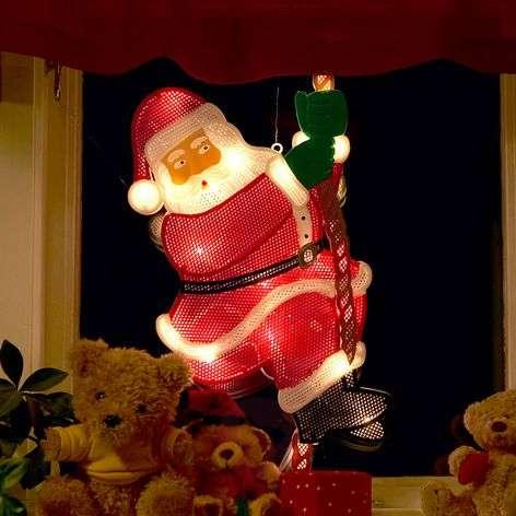Climbing Santa window picture decorative light