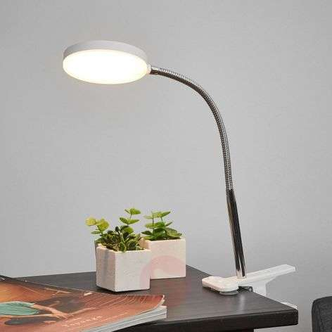 Clip-on table lamp Milow with LED and flexible arm