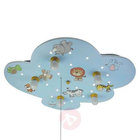 Cloud ceiling light with wild animals