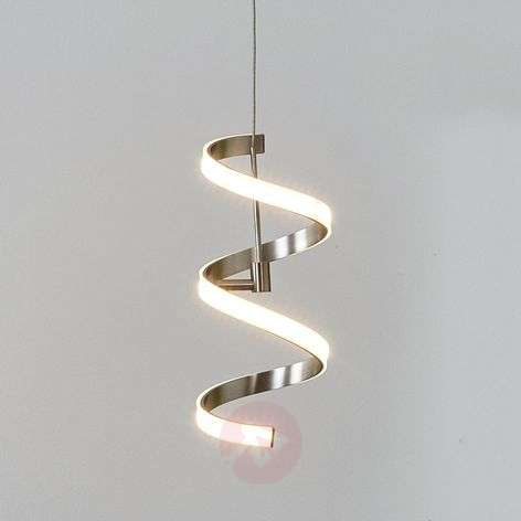 Coil-shaped Pierre hanging lamp with LEDs