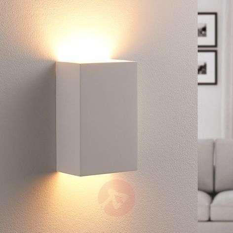 Colja - angular LED wall light made from plaster