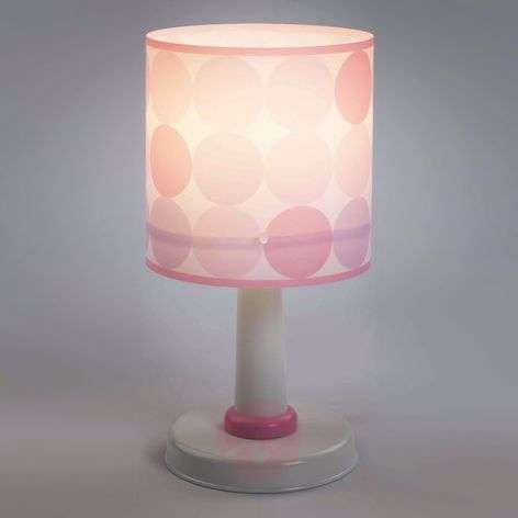 Colors - dotted table light in pink