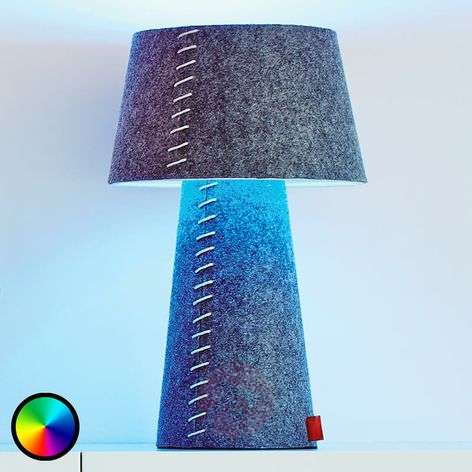 Colour-changing LED table lamp Alice felt