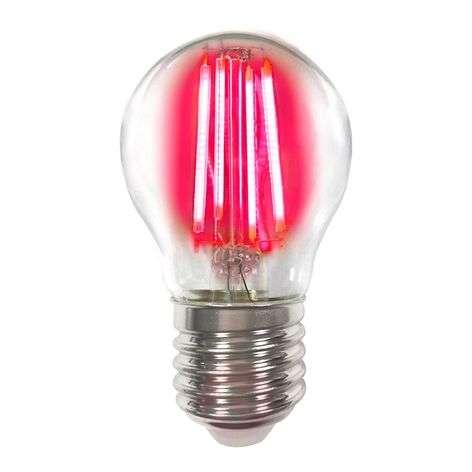 Coloured E27 4 W LED bulb filament