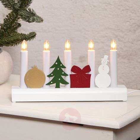 Colourful candleholder Julia with Christmas motifs