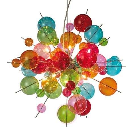 Colourful glass pendant light Aurinia-7000771-31