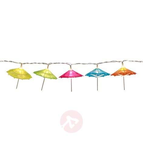 Colourful LED string lights Umbrella, battery-pow.