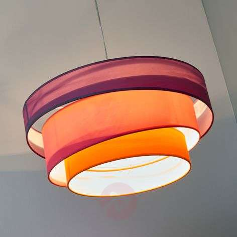 Colourful pendant light Melia, violet, pink