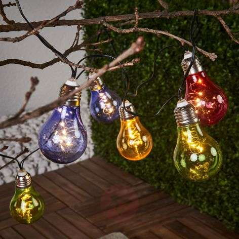 Colourful solar string lights Glow with LEDs