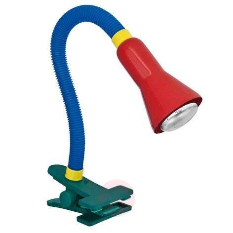 Colourful table lamp COLEUR with clamping foot-9005218-31