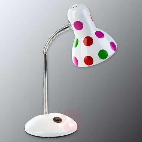 Colourfully-spotted table lamp Pointer