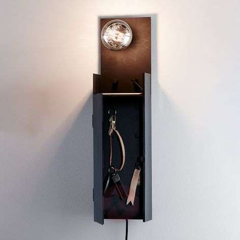 Combo wall lamp with key cabinet and USB point.-6506161-31