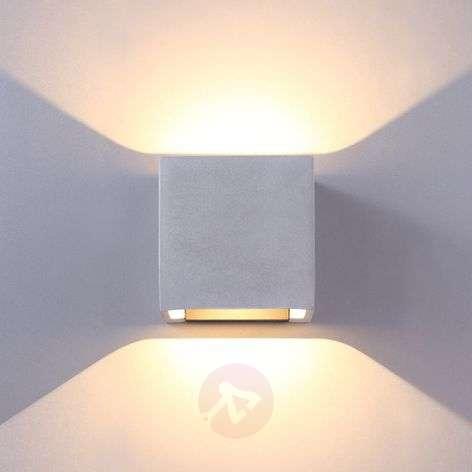 Concrete grey LED outdoor wall lamp Riak