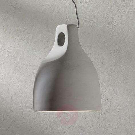 Concrete pendant lamp Morton in a round shape