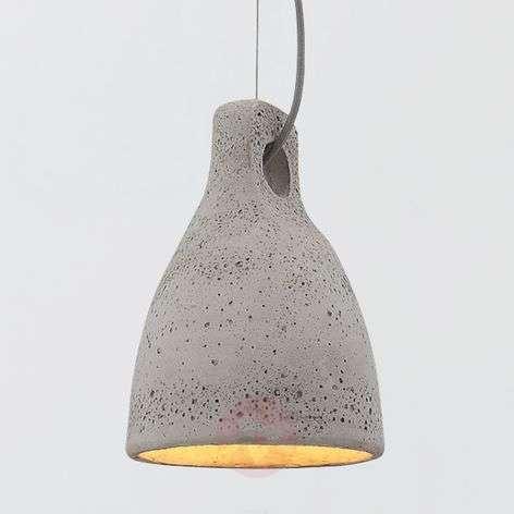 Concrete pendant light Lenna in grey