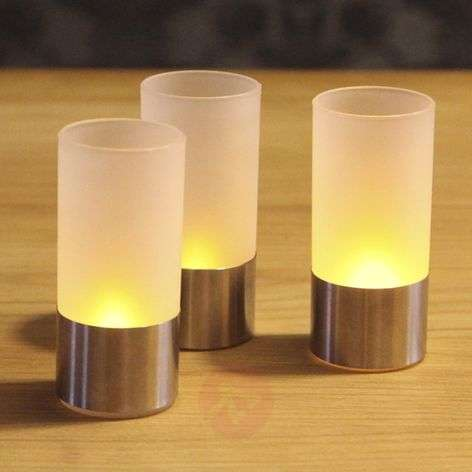 Contemporary LED storm lamp  set of 3,