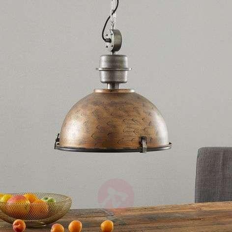 Copper brown Bikkel hanging light, industrial look