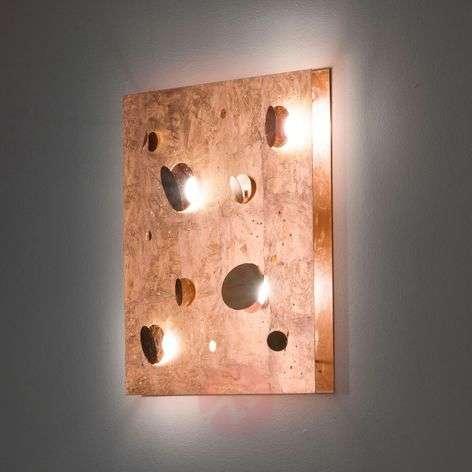 Copper-coloured designer LED wall light Buchi