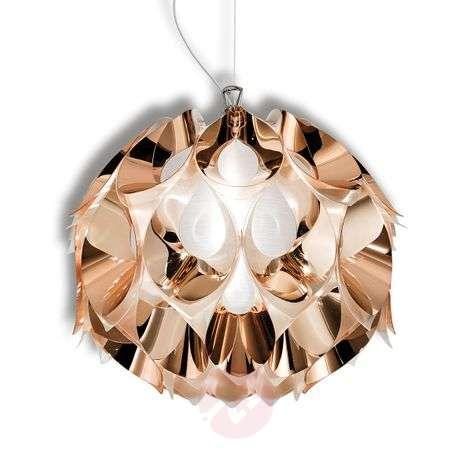 Copper-coloured Flora hanging light, 36 cm