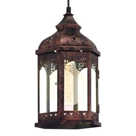 Copper-coloured Krista hanging light