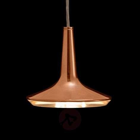 Copper-coloured LED hanging light Kin, 15 cm