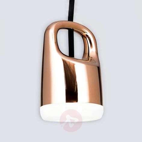Copper-coloured LED hanging light Tinus