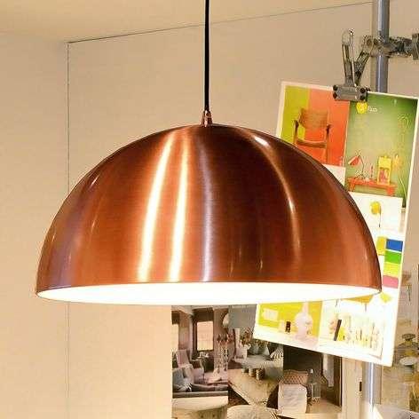 Copper-coloured Riva hanging light