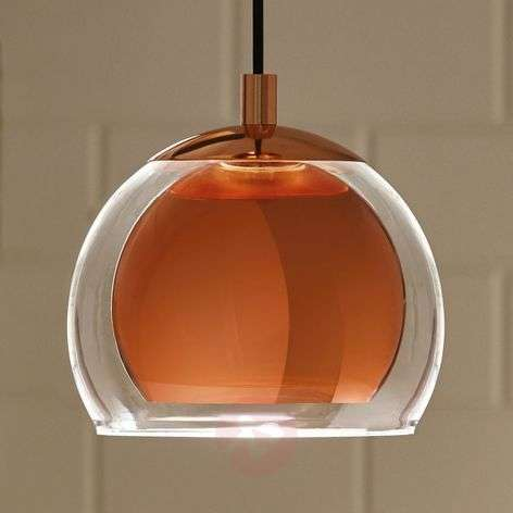 Copper-coloured Rocamar hanging light-3031750-31