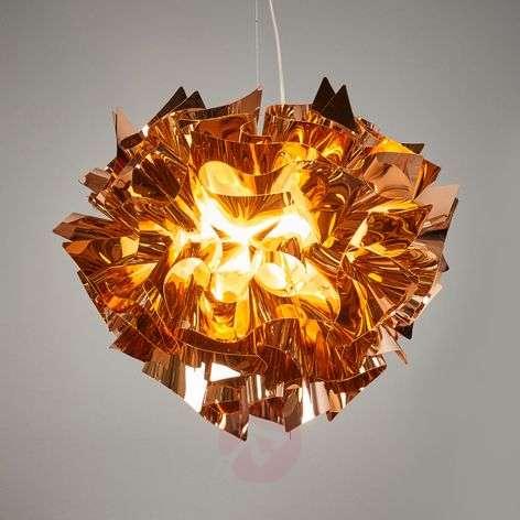 Copper-coloured Veli hanging light, 42 cm