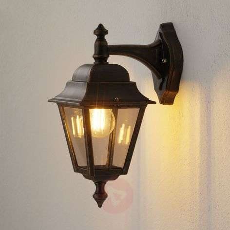 Copper outdoor wall light Toulouse, hanging