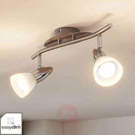 Cora LED ceiling lamp, easydim, two-bulb