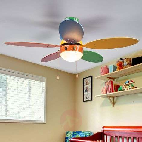 Corinna colourful ceiling fan with light