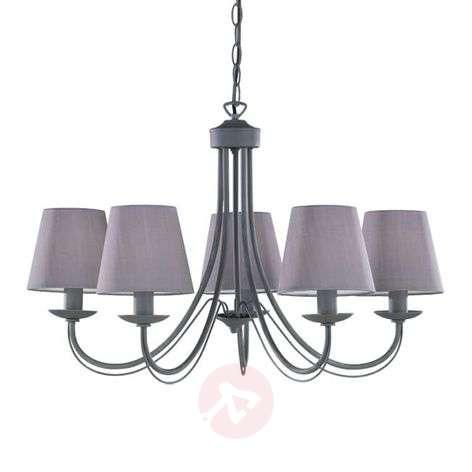 Cortez chandelier, grey, 5-bulb