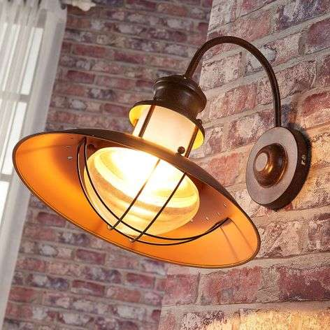 Country wall light Louisanne in rusty brown