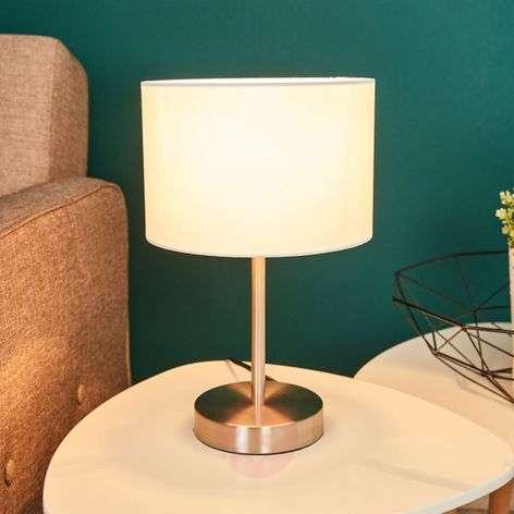 Cream-coloured fabric lampshade table lamp Risa-9004560-31