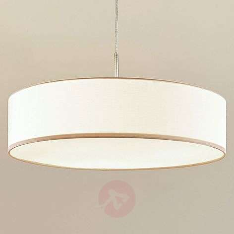 Cream-coloured Sebatin fabric LED pendant light