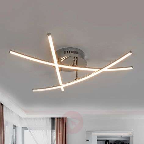 Crossed rods - beautiful LED ceiling lamp Yael