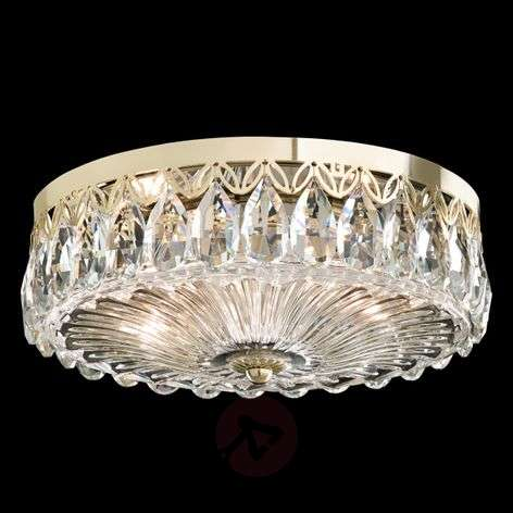 Crystal ceiling light Fontana Luce w. gold finish