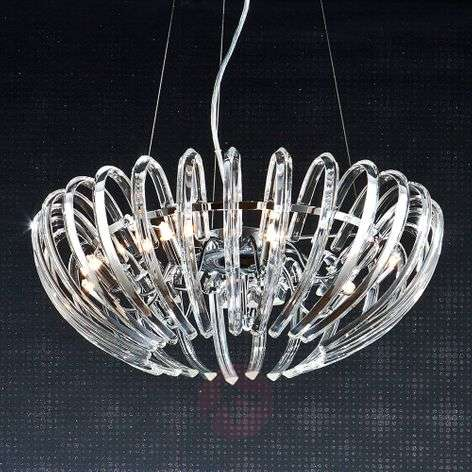 Crystal hanging light Ariadna in clear look, 53 cm