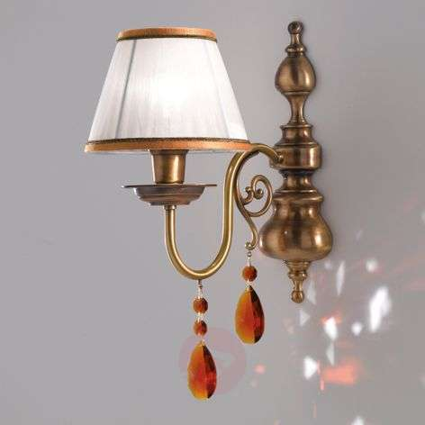 Crystal - richly decorated fabric wall light