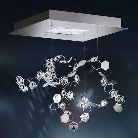 Crystalon LED crystal pendant lamp, 39 x 39 cm