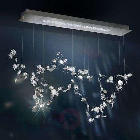Swarovski Crystal Lighting Throughout Crystalon Led Hanging Light W Swarovski Crystals857802233 Crystals Lightsie
